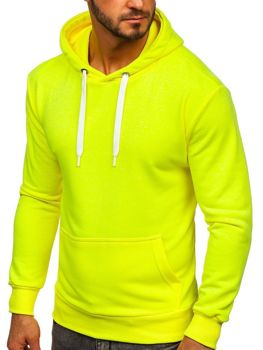 Чоловіча толстовка з капюшоном жовтий-неон Bolf 1004
