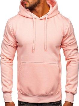 Чоловіча толстовка з капюшоном світло-рожева Bolf 2009-38