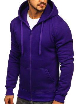 Чоловіча толстовка з капюшоном фіолетова Bolf 2008