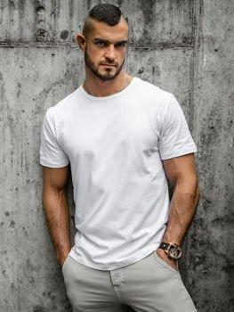 Чоловіча футболка без принта біла Bolf T1279