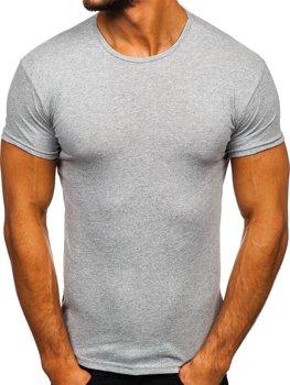 Чоловіча футболка без принта сіра Bolf 0001