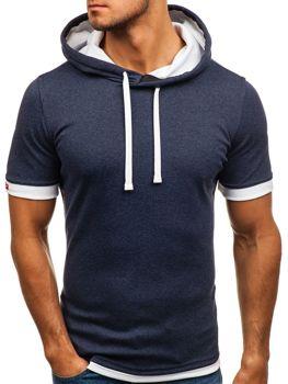 Чоловіча футболка без принта темно-синя Bolf 08 73be8a0ca2da0