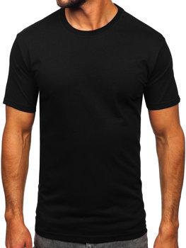 Чоловіча футболка без принта чорна Bolf 14291