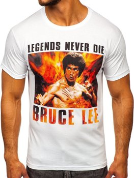 Чоловіча футболка з принтом біла Bolf 001