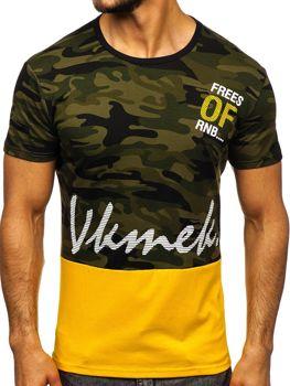 Чоловіча футболка з принтом зелена Bolf SS10978