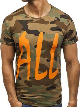 Чоловіча футболка з принтом мультиколор Bolf 2102E