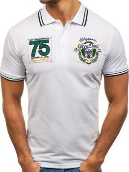 Чоловіча футболка поло біла Bolf 0605