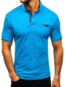 Чоловіча футболка поло синя Bolf 192034
