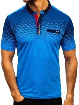 Чоловіча футболка поло синя Bolf 6599