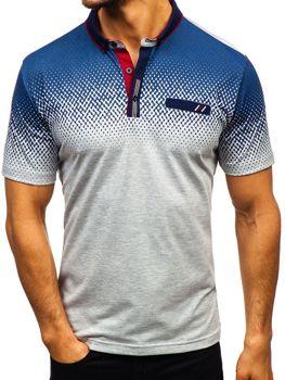 Чоловіча футболка поло сіра Bolf 6599