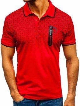 Чоловіча футболка поло червона Bolf 5772