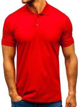 Чоловіча футболка поло червона Bolf 9025