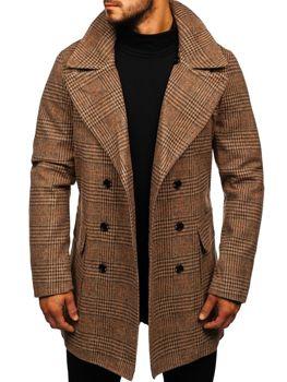 Чоловіче зимове пальто коричневе Bolf 1117