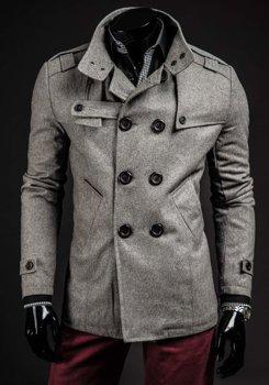Чоловіче пальто сіре Bolf 8857B