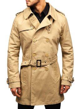 Чоловіче пальто-тренч бежеве Bolf 5710