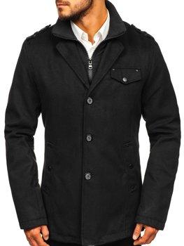 Чоловіче пальто чорне Bolf 8853