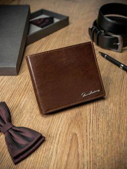 Чоловічий гаманець шкіряний коричневий 1680