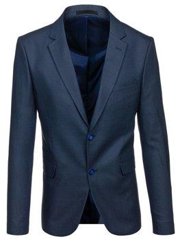 Чоловічий елегантний піджак темно-синій Bolf 1050