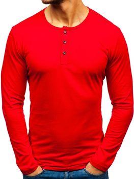 Чоловічий лонгслів червоний Bolf 1114