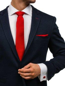 Чоловічий набір краватка, запонки, хустинка паші темно-червоний Bolf KSP01