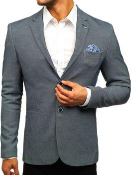 Чоловічий піджак casual темно-синій Bolf 0158A 7ed2c67b8a9b7
