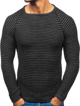 Чоловічий светр антрацитовий Bolf 152