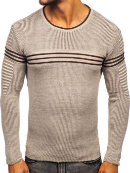 Чоловічий светр бежевий Bolf 0001