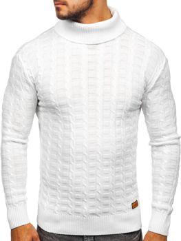Чоловічий светр гольф білий Bolf 16