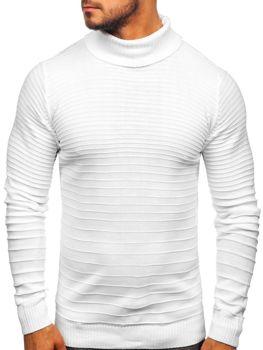 Чоловічий светр гольф білий Bolf 4518
