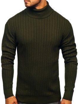 Чоловічий светр гольф зелений Bolf 315