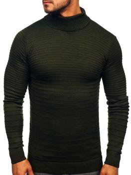 Чоловічий светр гольф зелений Bolf 4518