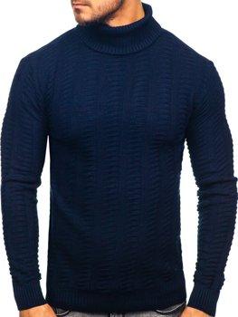 Чоловічий светр гольф темно-синій Bolf 314