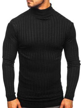 Чоловічий светр гольф чорний Bolf 2002
