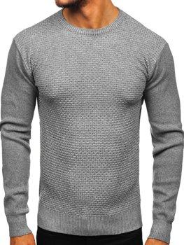 Чоловічий светр сірий Bolf 8512