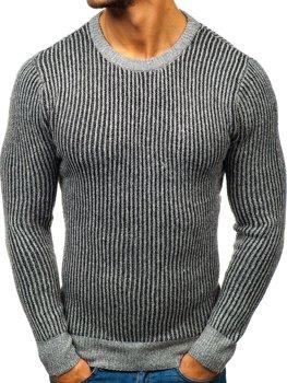Чоловічий светр сірий Bolf H1818