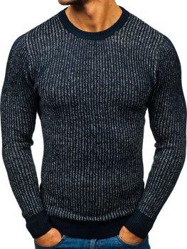 Чоловічий светр темно-синій Bolf H1818