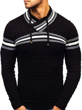 Чоловічий светр чорний Bolf 6006