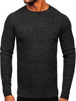 Чоловічий светр чорний Bolf H1810