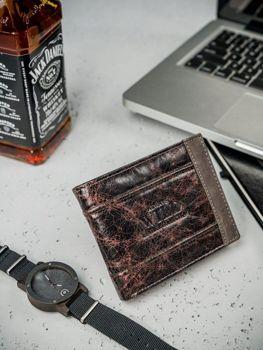 Чоловічий шкіряний гаманець коричневий 3162