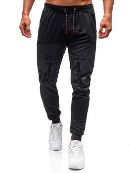 Чоловічі спортивні штани джогери чорні Bolf 300130