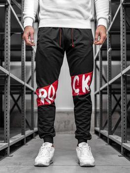 Чоловічі спортивні штани джогери чорні Bolf MK11