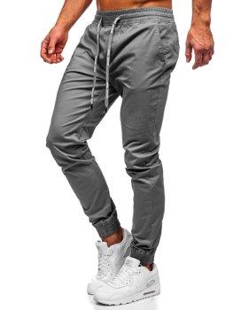 Чоловічі штани джоггери графітові Bolf KA951