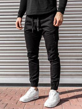 Чоловічі штани джоггери чорні Bolf 11104