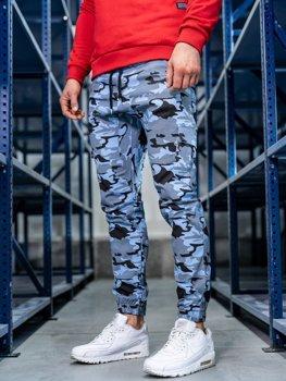 Чоловічі штани джогери карго блакитні Bolf 0404