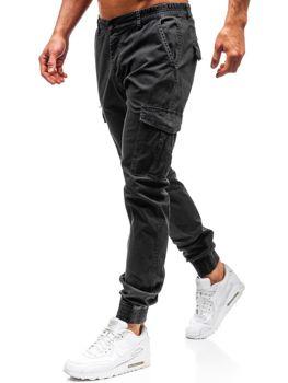 Чоловічі штани джогери карго графітові Bolf 5399