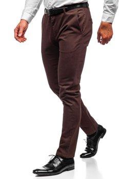 Чоловічі штани чінос коричневі Bolf 1120
