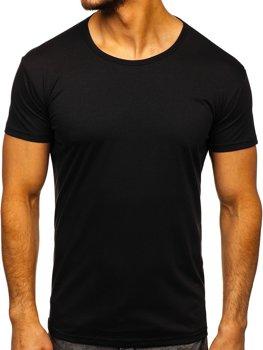 Чорна футболка чоловіча без принта Bolf 2006