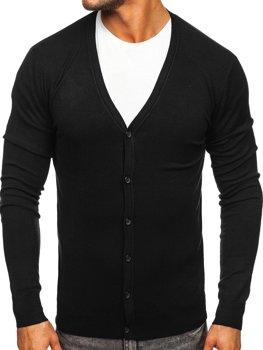 Чорний Чоловічий светр кардиган Bolf YY06