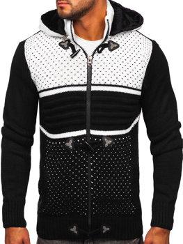 Чорний чоловічий светр товстої в'язки Bolf 2047