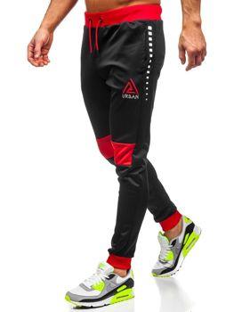 Чорні чоловічі спортивні штани з принтом Bolf AM87